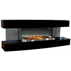 Cheminée électrique design Lounge noire de marque CHEMIN'ARTE, référence: B5566300