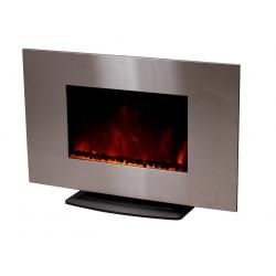 """Cheminée électrique décorative """"Pure Inox"""" - Color Style de marque CHEMIN'ARTE, référence: B2385500"""