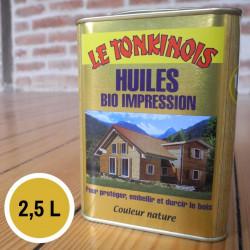 Huile Bio Impression transparent - 2,5 L de marque Le Tonkinois, référence: B5567300