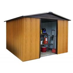 Abri Métal 106WGY - S.H. T. 5,97 m² - H. 202cm - Marron bois de marque Trigano, référence: J5578100