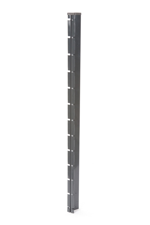 Poteau à encoches GRIS - H. 1,87 m