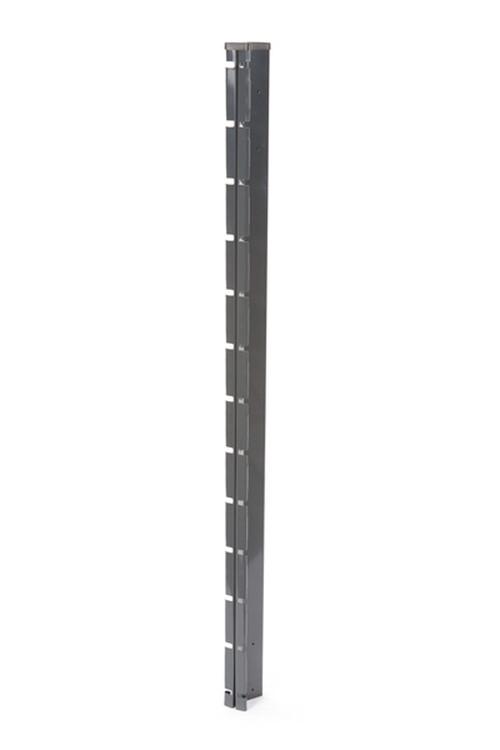 Poteau à encoches GRIS - H. 2,47 m