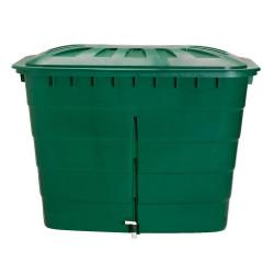 Cuve rectangulaire 520L vert avec couvercle et robinet PE de marque GRAF , référence: J5594000