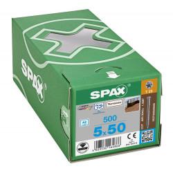 500 Vis Torx autoforeuse 5x50 Spax-deck inox A2 - Terrasse bois éxotique de marque SPAX, référence: B5596300