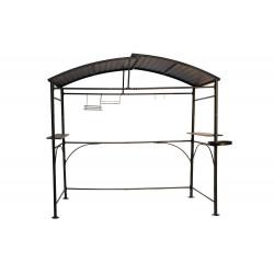 Carport barbecue autoportant à double toit finition époxy gris anthracite - toit réalisé en acier galvanisé de marque HABRITA, référence: J5013500