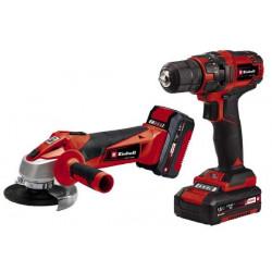 Kit d'outils TC-TK18LiKit - Perceuse-visseuse et meuleuse d'angle sans fil - Batterie 1,5 Ah et 3,0 Ah de marque EINHELL , référence: B5609900