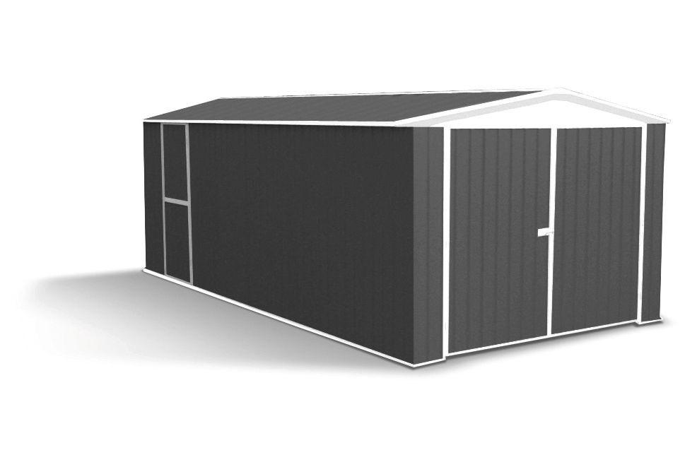 Garage métal Hervey - 300 x 596 cm - Surface utile : 17,6 m²