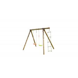 Portique TONKA en bois échelle et balançoire 3 agrès - H. 190cm de marque SOULET, référence: J5653600