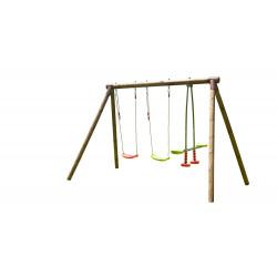 Portique PACCO en bois traité 3 agrès - H. 195cm de marque SOULET, référence: J5653800