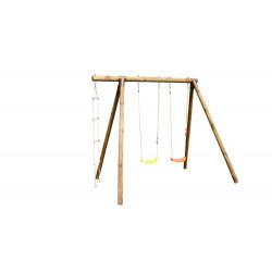 Portique ARTHUR en bois - échelle et balançoire 3 agrès - H. 220cm de marque SOULET, référence: J5653900