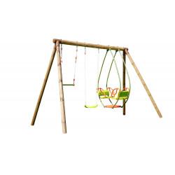 Portique MILO en bois traité - 3 agrès - H. 220cm de marque SOULET, référence: J5654100