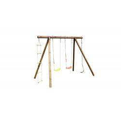 Portique ERNEST en bois traité - 2 agrès corde et echelle - H. 222cm de marque SOULET, référence: J5654200