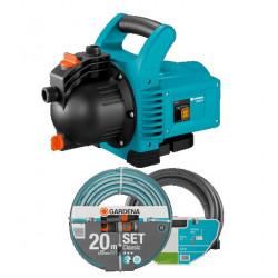 Kit pompe de surface 3000/4 + kit d'aspiration 3,5m + batterie de tuyau Classic 20m, 13mm de marque GARDENA, référence: J5666300