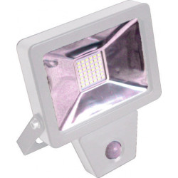 Projecteur plat SMD à détection infra-rouge 30W - 2400 Lm - 4000K - IP44 - Coloris BLANC de marque FOX LIGHT, référence: B5692500