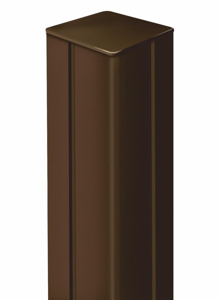 Poteau ALUPOST pour panneaux décoratifs - 1,98 m - aluminium - Rouille