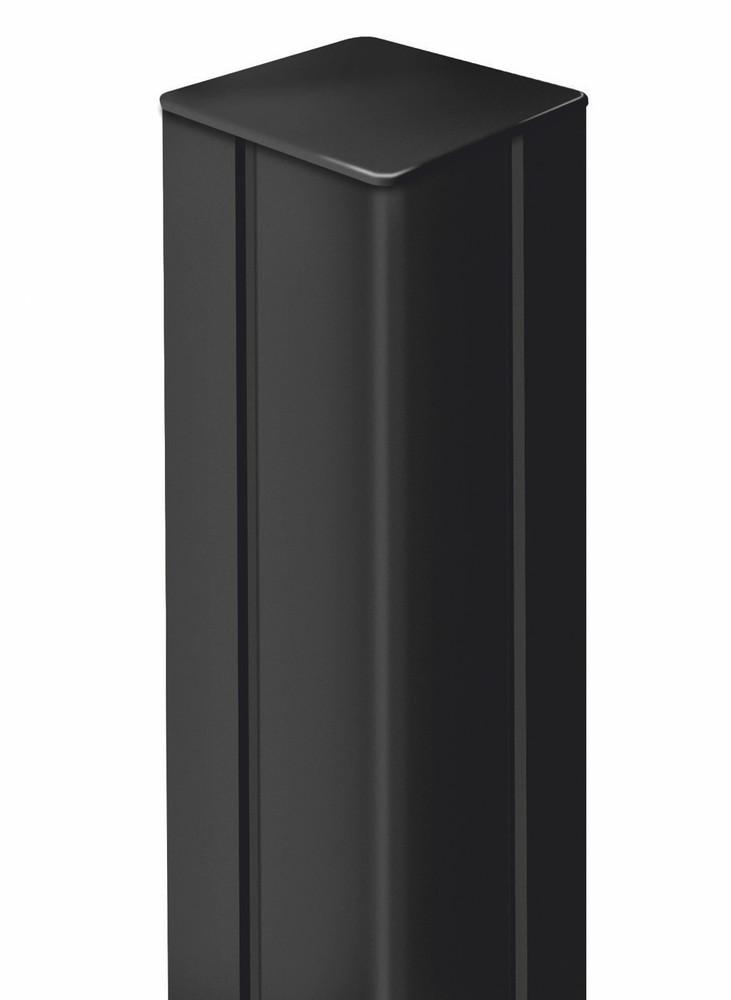 Poteau ALUPOST pour panneaux décoratifs - 1,98 m - aluminium - Anthracite
