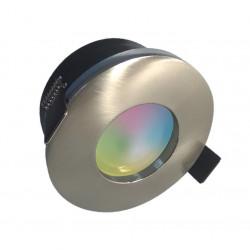 SPOT SMART AMBER GU10 5W/RGB+BlancDyn./350lm/Ø82/Acier de marque Arlux Lighting, référence: B5717200