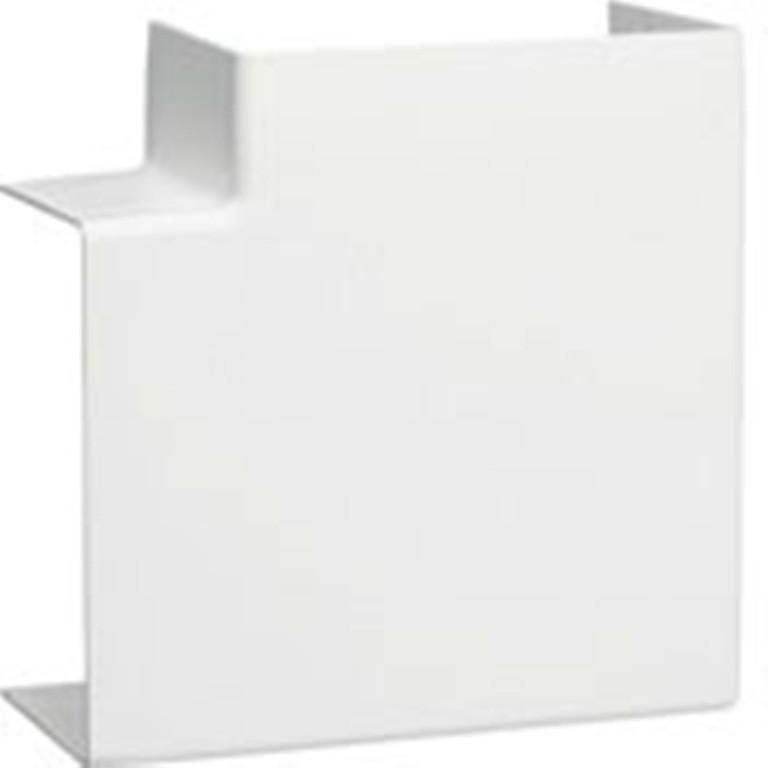 Angle plat blanc pour goulotte, H. 6.3 x P.4.5 cm