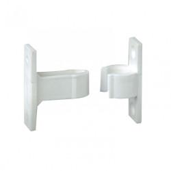 Arrêt à pince composite plastifié, H.50 x L.50 x P.20 mm de marque AFBAT, référence: B5738900