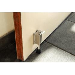Arrêt de porte ALPERTEC acier inoxydable mat gris Diam.4.4 cm x H.14 cm de marque ALPERTEC, référence: B5740300