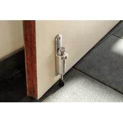 Arrêt de porte ALPERTEC zamak nickelé gris Diam.3 cm x H.15 cm de marque ALPERTEC, référence: B5740400