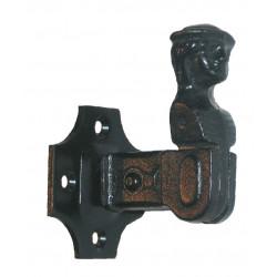 Arrêt sur platine acier prépeint, H.80 x L.50 x P.60 mm de marque AFBAT, référence: B5740500