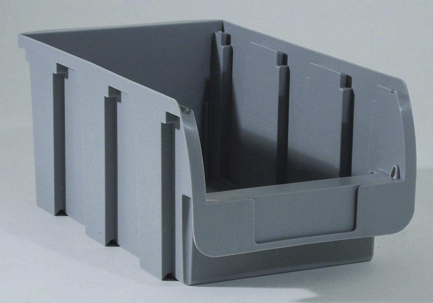 Bac à vis gris, l.20.4 x H.15 x P.35 cm