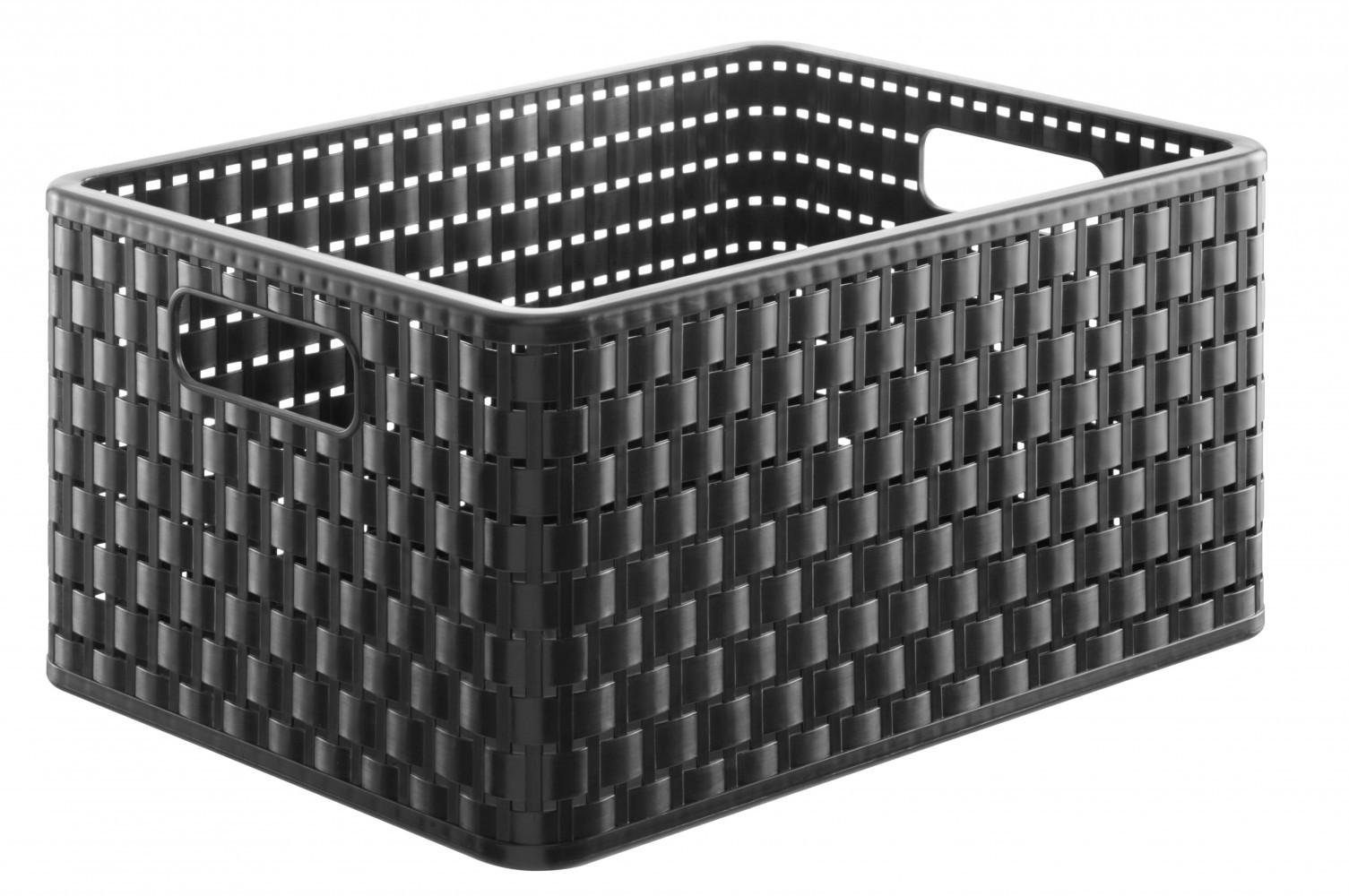 Bac SUNDIS plastique noir l.27.8 x P.36.8 x H.19.1 cm cm, 18 l