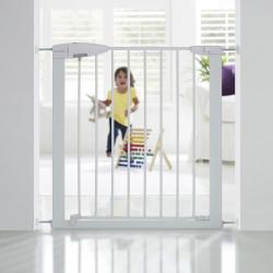 Barrière de sécurité enfant MUNCHKIN portillon semi-auto métal blanc, L.73 /79cm de marque MUNCHKIN, référence: B5747400