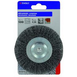 Brosse circulaire perceuse pour métal TIVOLY, Diam.100 mm de marque TIVOLY, référence: B5756900