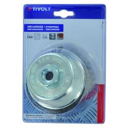 Brosse coupe meuleuse pour métal TIVOLY, Diam.90 mm de marque TIVOLY, référence: B5757300