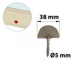 Butée de fermeture à visser inox brossé, H.60 x L.40 x P.10 mm de marque AFBAT, référence: B5760100