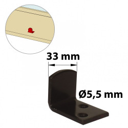 Butée de fermeture acier prépeint, H.35 x L.30 x P.45 mm de marque AFBAT, référence: B5760200