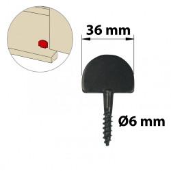 Butée de fermeture acier prépeint, H.60 x L.36 x P.4 mm de marque AFBAT, référence: B5760400