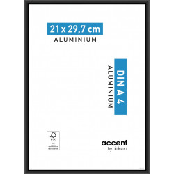 Cadre Accent, 21 x 29.7 cm, noir de marque NIELSEN, référence: B5766000