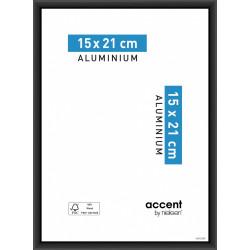 Cadre Accent, l.15 x H.20 cm, aluminium noir de marque NIELSEN, référence: B5766900