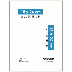 Cadre Nickel, 18 x 24 cm, gris de marque NIELSEN, référence: B5767200