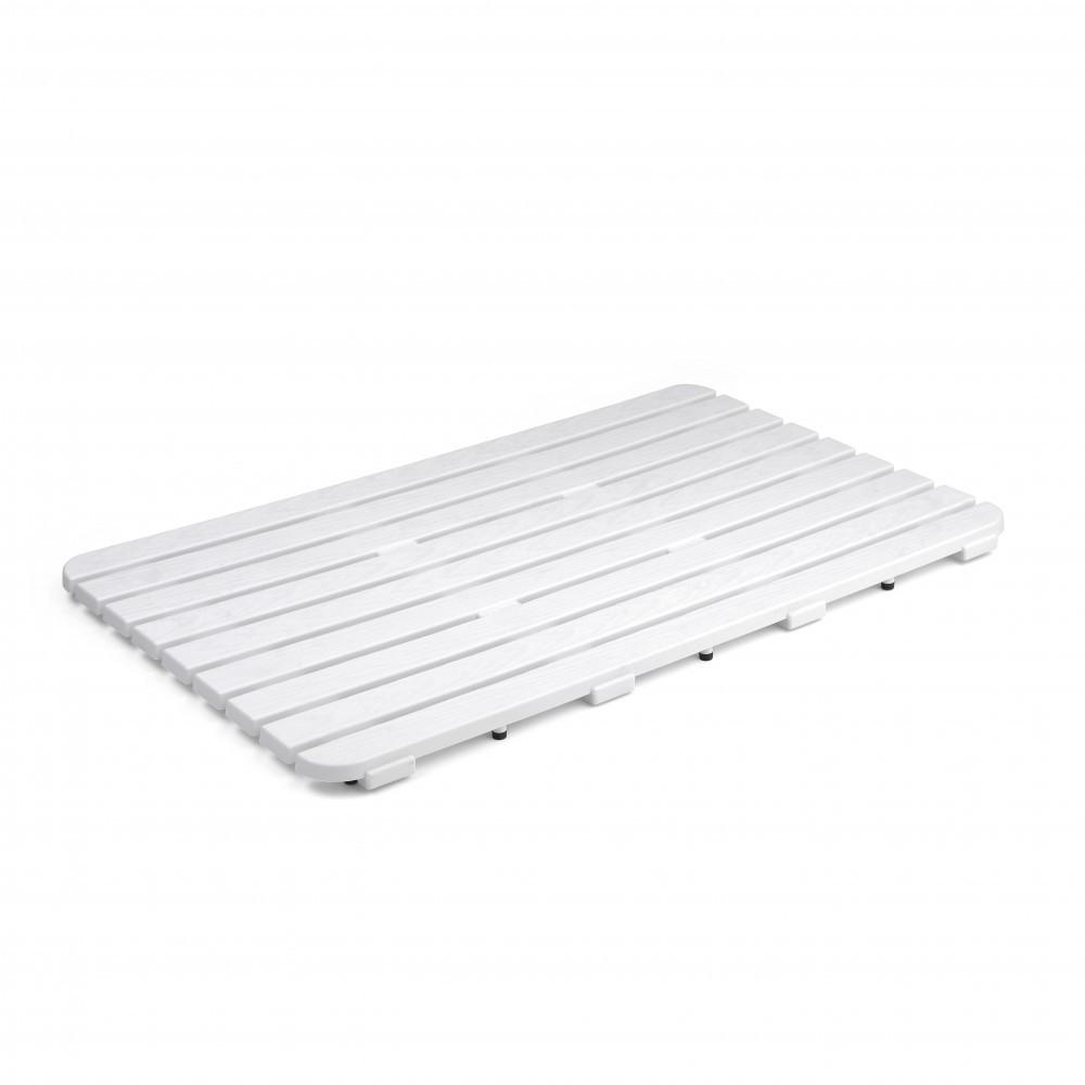 Caillebotis à poser l.80 x l.50 cm, blanc, Steppy