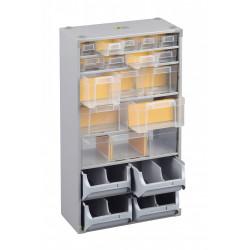 Casier à vis acier 19 tiroirs, H. 56 x l. 30 x P. 16.5 cm de marque ALLIT, référence: B5769300