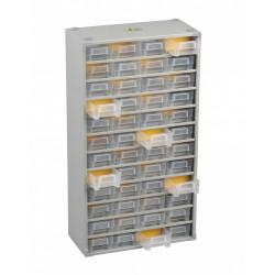Casier à vis acier 48 tiroirs, H. 56 x l. 30 x P. 13.5 cm de marque ALLIT, référence: B5769400