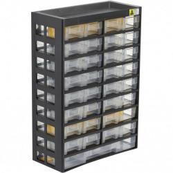 Casier à vis plastique 33 tiroirs, H. 43.5 x l. 30.3 x P. 13.6 cm de marque ALLIT, référence: B5769500