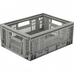 casier TONTARELLI plastique gris l.40 x P.30 x H.16.9 cm cm, 15.8 l de marque TONTARELLI, référence: B5769600