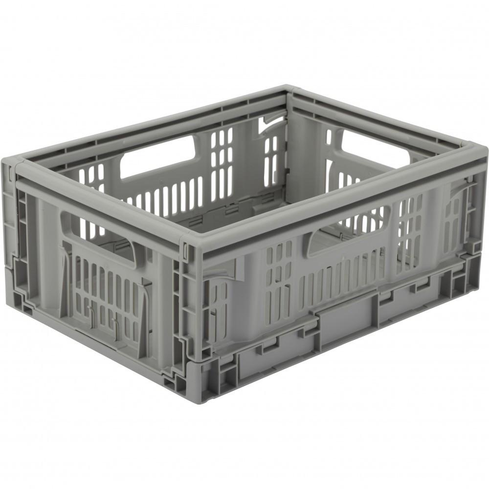 casier TONTARELLI plastique gris l.40 x P.30 x H.16.9 cm cm, 15.8 l