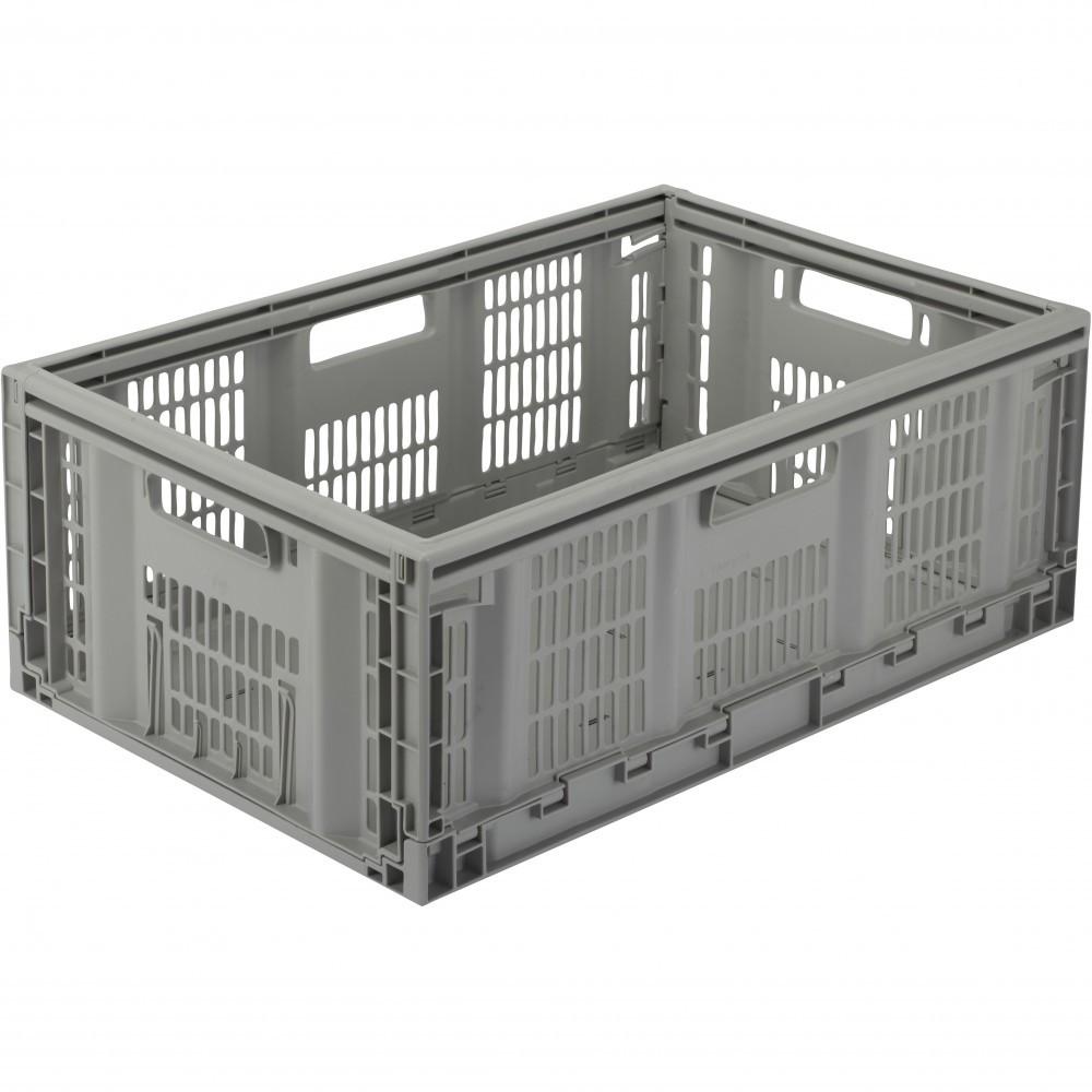 casier TONTARELLI plastique gris l.60 x P.40 x H.22.9 cm cm, 46 l
