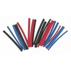 18 gaines thermorétractables rouge/noir/bleu, L.0.08m, ZENITECH de marque ZENITECH, référence: B5770300