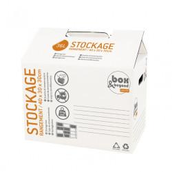 Caisse à monter Utility carton renforcé , l.40 x P.30 x H.30 cm de marque PACK AND MOVE, référence: B5771300