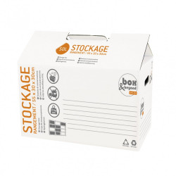 Caisse à monter Utility carton renforcé , l.55 x P.30 x H.30 cm de marque PACK AND MOVE, référence: B5771400