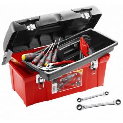 Boîte à outils en plastique + 18 outils FACOM TBX1M.PG de marque FACOM, référence: B5773400