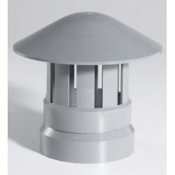Chapeau de ventilation femelle pvc gris GIRPI, Diam.100 mm de marque GIRPI, référence: B5775300
