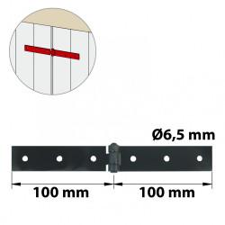 Charnière forte acier pour volets battants, L.40 x l.100 mm de marque AFBAT, référence: B5776600